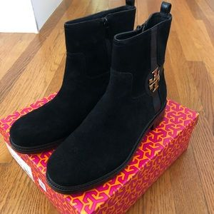 NEW!  Tory Burch Alaina Black Suede Bootie Size 9